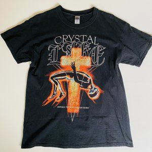 Crystal Castles Size L Graphic Band Tee